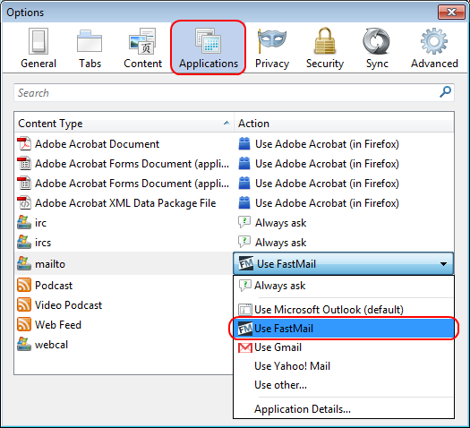 Making FastMail default mail application in Firefox | Roman